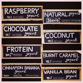 Skinny Dippa Yogurt Bar Flavours